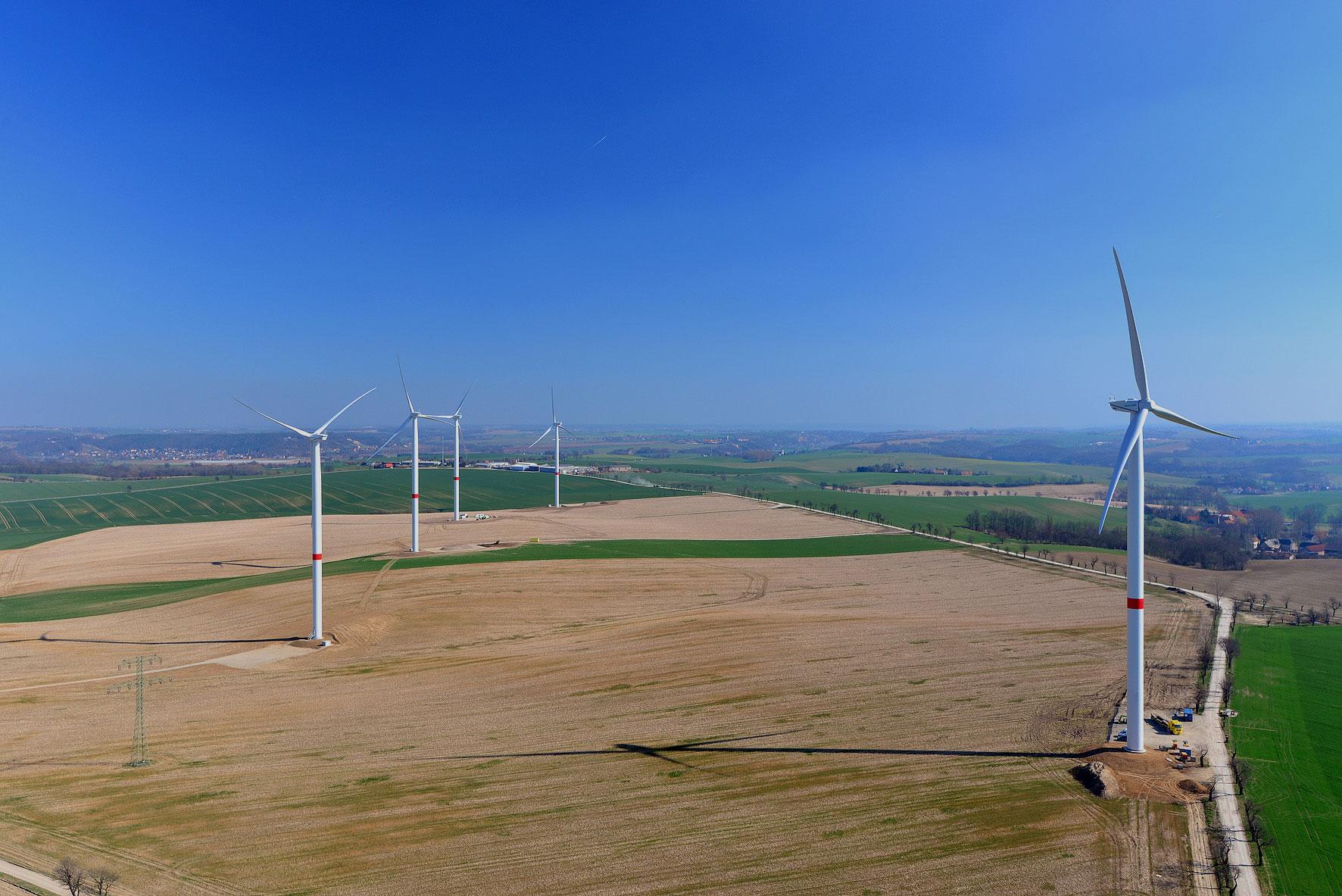 Windpark Wölkisch, <br>Sachsen