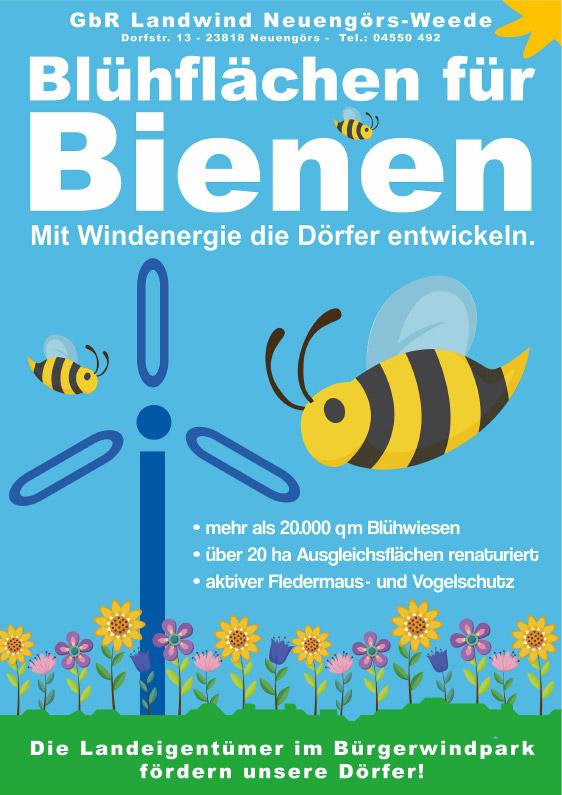 Blühflächen für Bienen
